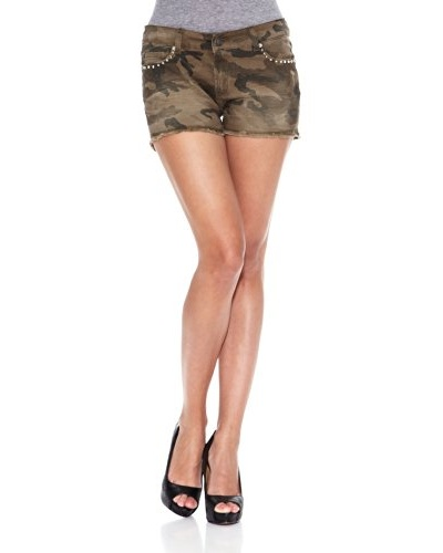 Heartless Jeans Short Pretty Cloute Short Heartless Camouflage Caqui