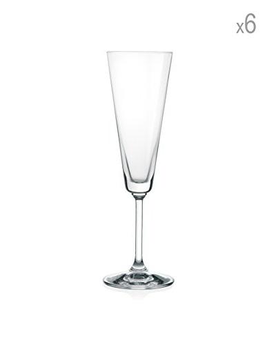 H&H Juego de 6 copas de champagne Jazz 18 cl