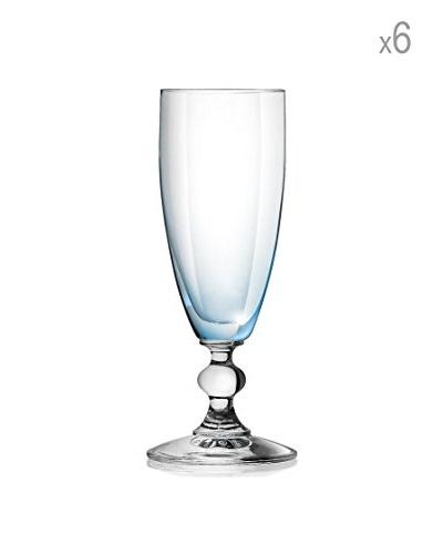 H&H Juego de 6 copas de champagne Splendor 17.5 cl