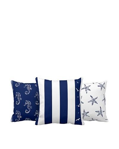 Set 3 Cojines Decorativos Azul 43 x 43 cm