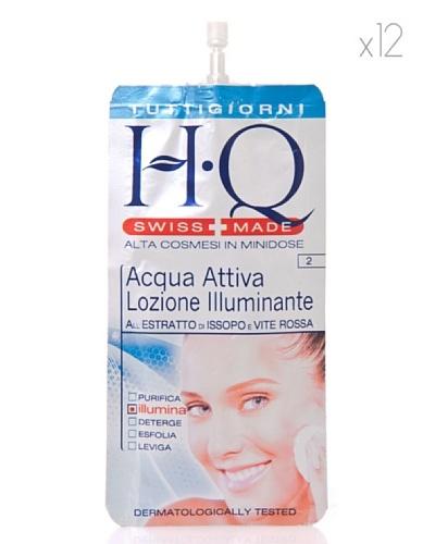 HQ Kit De 12 Productos Agua Activa Loción Iluminadora 15 ml cad.