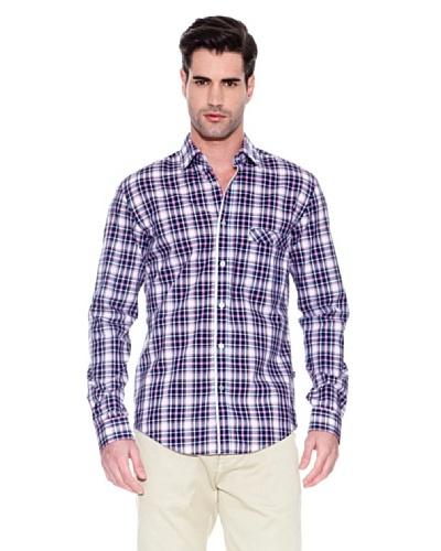Hugo Boss Camisa Night Marino / Blanco / Rosa