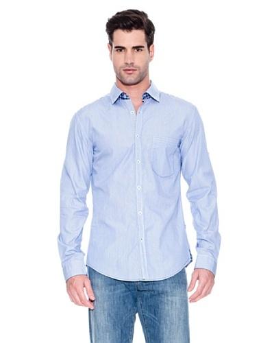 Hugo Boss Camisa Natal Azul
