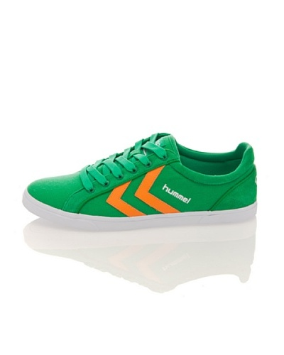 Hummel Zapatillas Game Canvas Baja Verde/Naranja