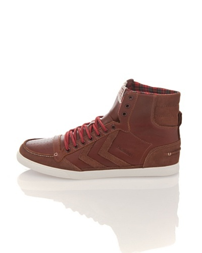 Hummel Zapatillas Slim. Stadil Moc Toe Alta Marrón