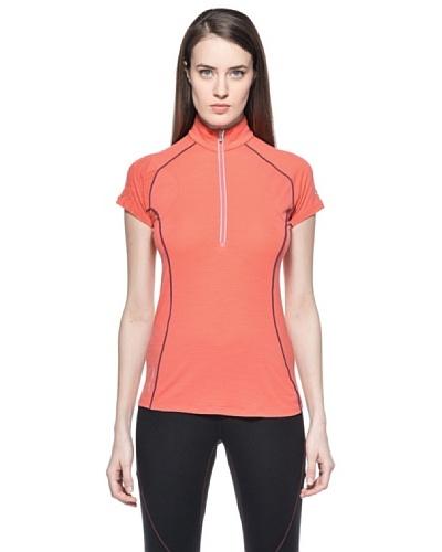 Icebreaker Camiseta Sport Gt150 Zip Flash Zip Coral