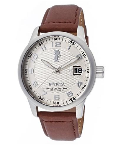 Invicta 12825 – Reloj de Caballero cuarzo piel Marrón