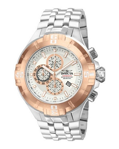 Invicta 12356 - Reloj de Caballero cuarzo metálico Plata