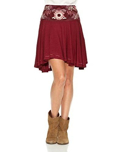 Janis Falda Lisa Rojo Oscuro