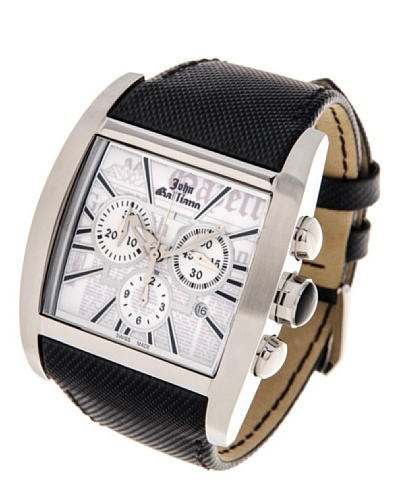 John Galliano Reloj cronógrafo de hombre correa de piel
