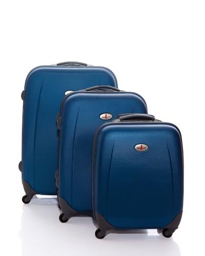 John Travel Set  Tres Trolleys Dublín Azul