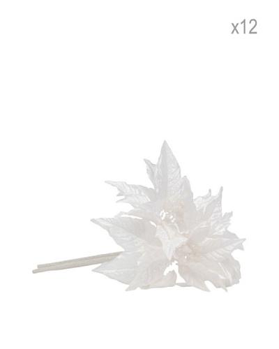 Jolipa 12 Estrellas de Navidad Blancas