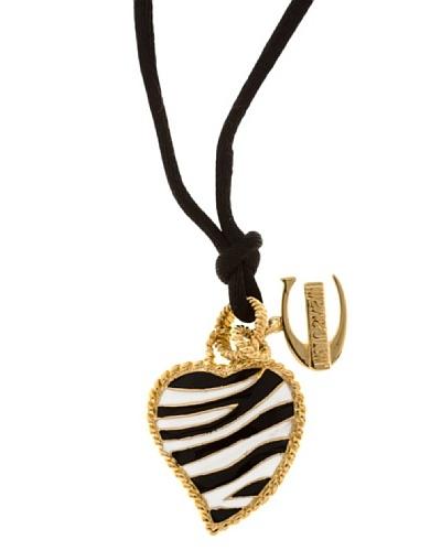 Just Cavalli Colgante Cebra Corazón Negro/Oro