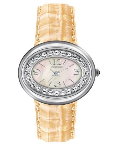 K&BROS 9158-4 / Reloj de Señora  con correa de piel beige