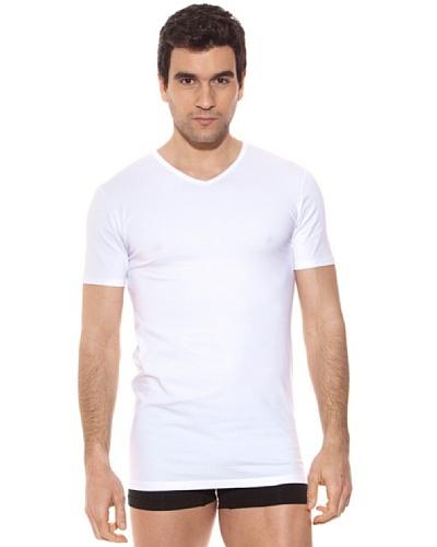 Kappa Camiseta mc Caballero Cuello Pico Algodón Elástico