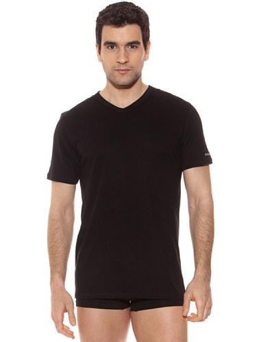 Kappa Camiseta mc Caballero Cuello Pico 100% Algodón