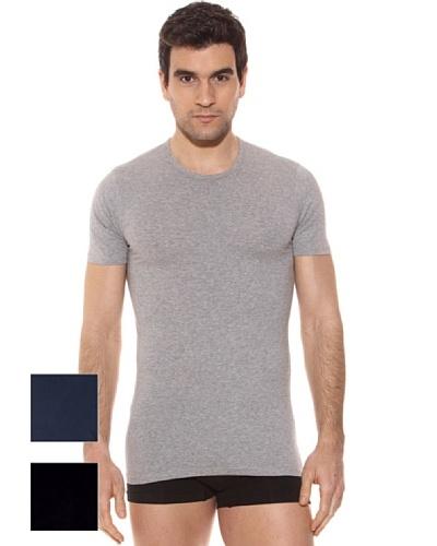 Kappa Pack 3 Camiseta mc Caballero Cuello Redondo Algodón Elástico