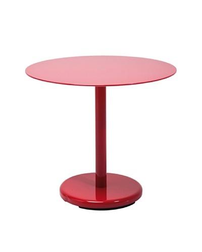 Kare Mesa Side Table Circle Red