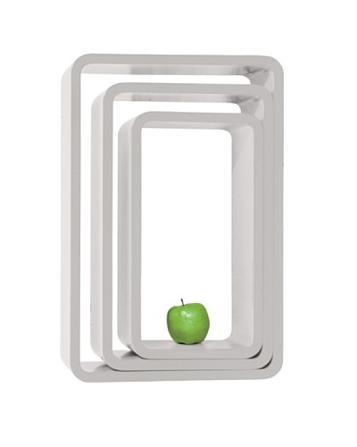 Kare Estanteria Lounge Cube Oval white (3/Set)