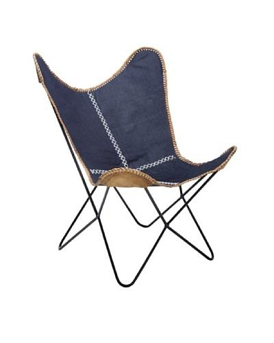 Kare Sillón Arm Chair Butterfly Denim