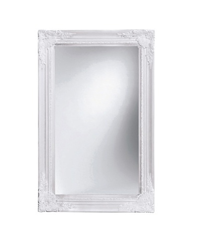 Kare Espejo Key Box Barock Mirror 68x44 White