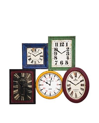 Kare Reloj de pared Vintage de colores