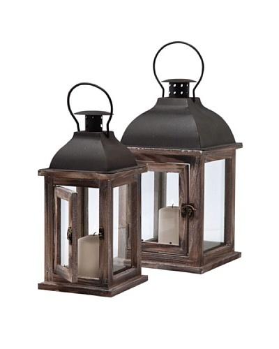 Kare Conjunto de dos linternas Lantern Sea Breeze Wood Small (2/Set)
