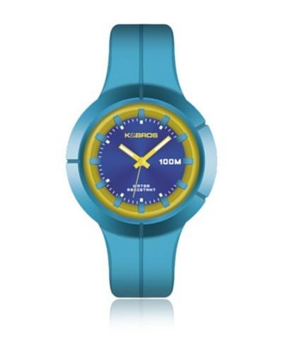 K&Bros Reloj 9573 Azul Amarillo