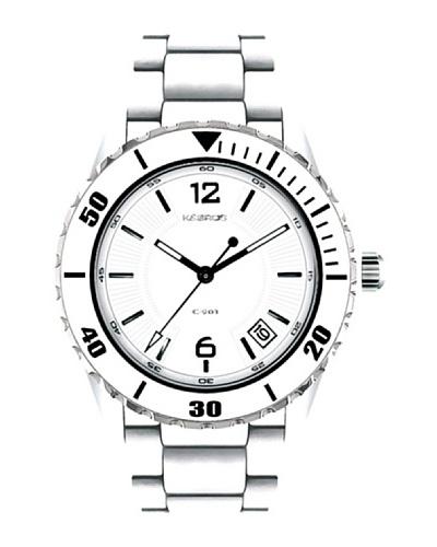 K&BROS 9137-2 / Reloj de Señora  con brazalete metálico Blanco
