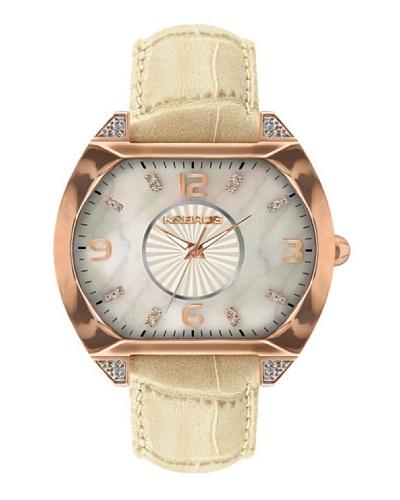 K&BROS 9160-3 / Reloj de Señora  con correa de piel Beige