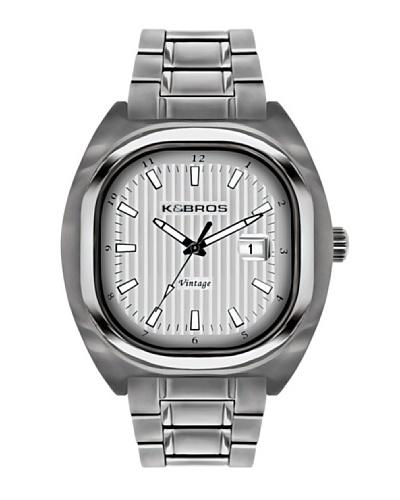 K&BROS 9452-1 / Reloj de Caballero  con brazalete metálico Plateado