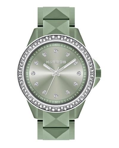 K&BROS 9565-4 / Reloj de Señora  con brazalete metálico Verde