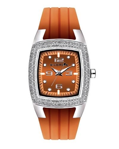 K&BROS 9103-3 / Reloj de Señora  con correa de caucho Naranja