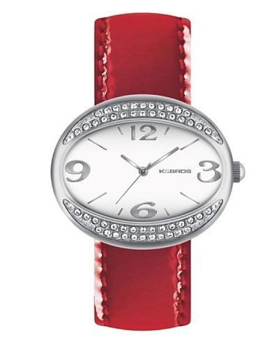 K&BROS 9156-3 / Reloj de Señora  con correa de piel Rojo