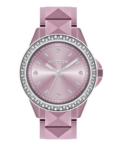K&BROS 9565-5 / Reloj de Señora  con brazalete metálico Rosa