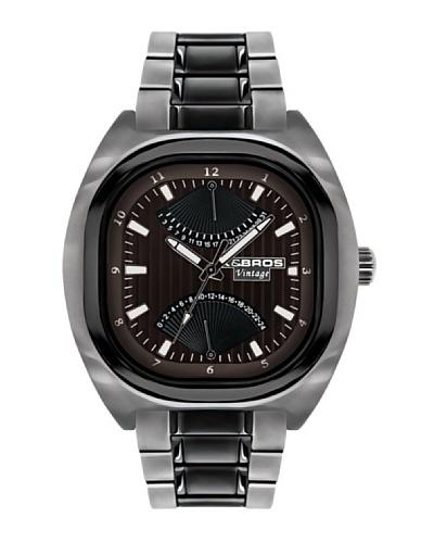 K&BROS 9450-2 / Reloj de Caballero con brazalete metálico dial marrón