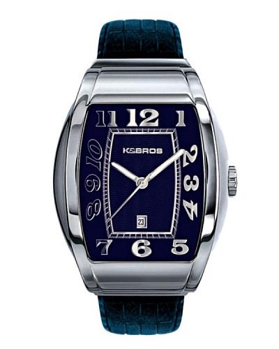 K&BROS 9424-3 / Reloj de Caballero  con correa de piel Azul