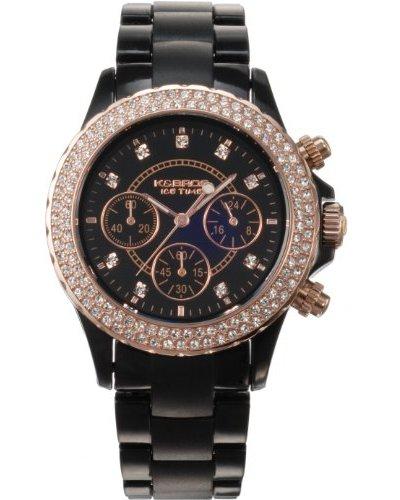 K&BROS 9553-1 / Reloj de Señora  con correa de plástico Negro