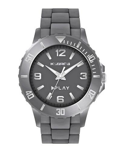 K&BROS 9561-4 / Reloj de Caballero  con correa de caucho Gris