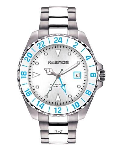 K&BROS 9476-2 / Reloj de Caballero  con brazalete metálico Blanco