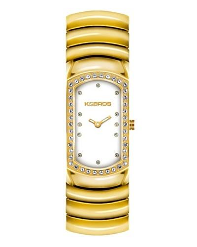 K&BROS 9168-4 / Reloj de Señora  con brazalete metálico Blanco
