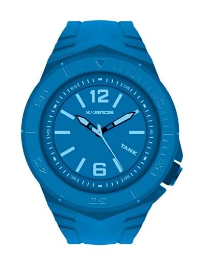 K&BROS 9566-3 / Reloj de Caballero  con correa de caucho Azul