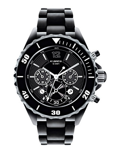 K&BROS 9150-1 / Reloj de Señora con brazalete metálico Negro