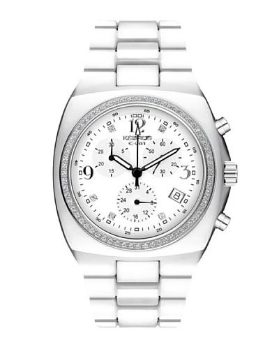 K&BROS 9141-2 / Reloj de Señora  con brazalete metálico Blanco