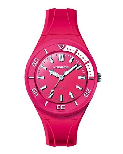 K&BROS 9176-3 / Reloj de Señora con correa de caucho Fucsia