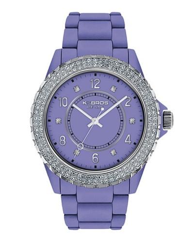 K&BROS 9558-9 / Reloj de Señora  con correa de plástico Morado