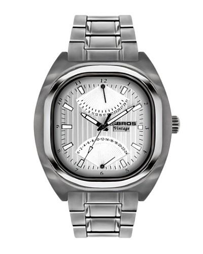 K&BROS 9450-1 / Reloj de Caballero  con brazalete metálico Plateado