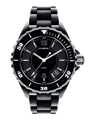 K&BROS 9144-1 / Reloj de Señora  con brazalete metálico Negro