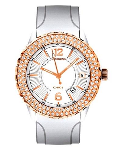 K&BROS 9177-2 / Reloj de Señora  con correa de caucho Blanco