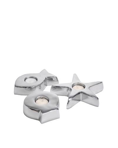 Korb Lote 3 Candelabros Playa Aluminio
